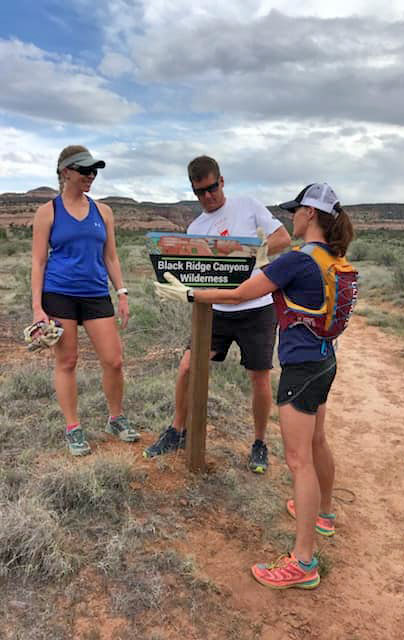 Mesa Monument Striders contribute to trail building and maintenance.