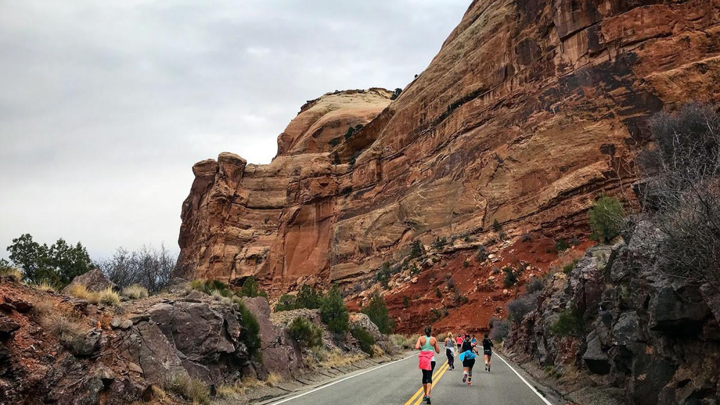 Rim Rock Run Marathon and Halt-Marathon, Grand Junction to Fruita, Colorado